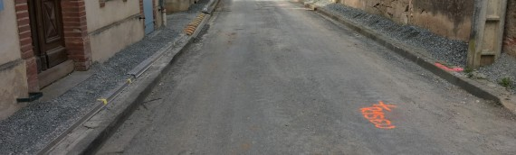 Travaux d'assainissement, rue du nord à Marssac (81)
