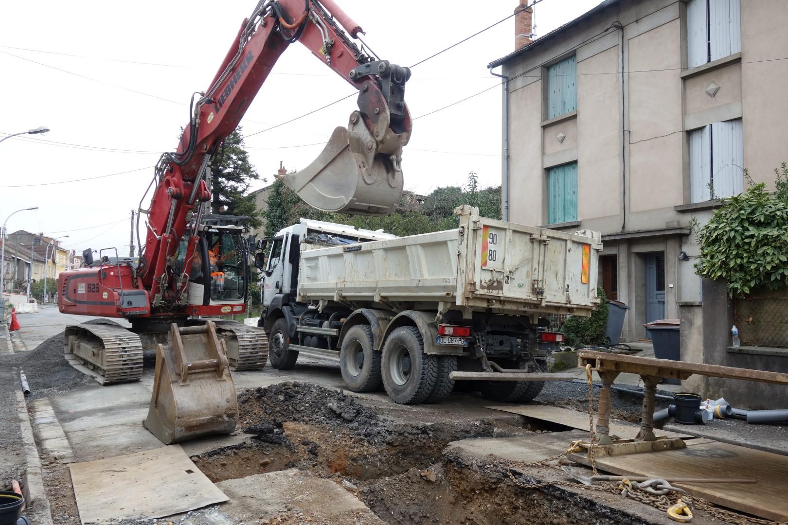 Assainissement Rue du Roc à Albi (81)
