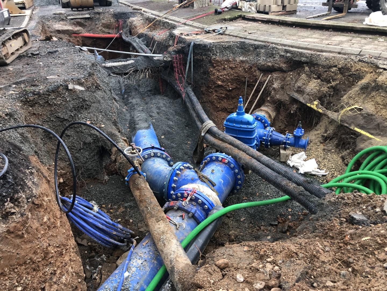 Pose réseau eau potable