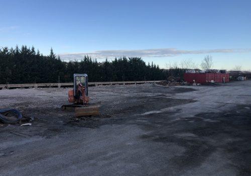 Démolition hangar et des silos sur site